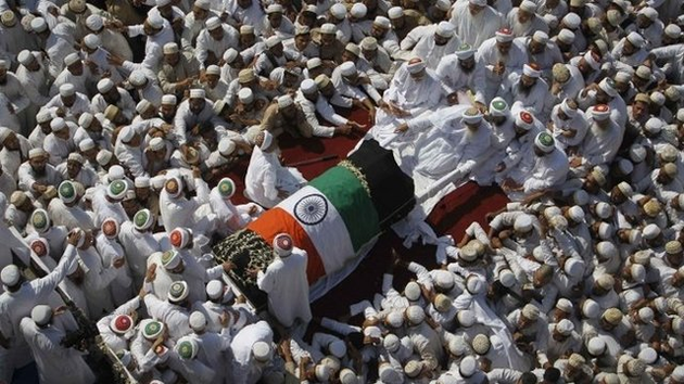 The funeral procession of Sayedna Mohammed Burhanuddin in Mumbai.
